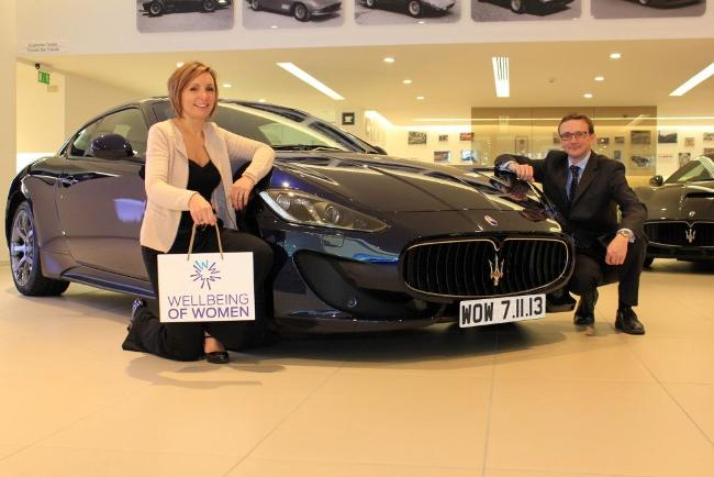 CEO Rachel Beverley-Stevenson and Dr Jenkins from One Medical at the Maserati Showroom
