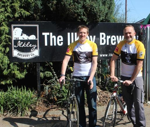 Ilkley Brewery's sales director, Richard Shelton (left), and managing director, Chris Ives, both keen road cyclists, kick start the Grand Départ build-up in their specially commissioned yellow jerseys.