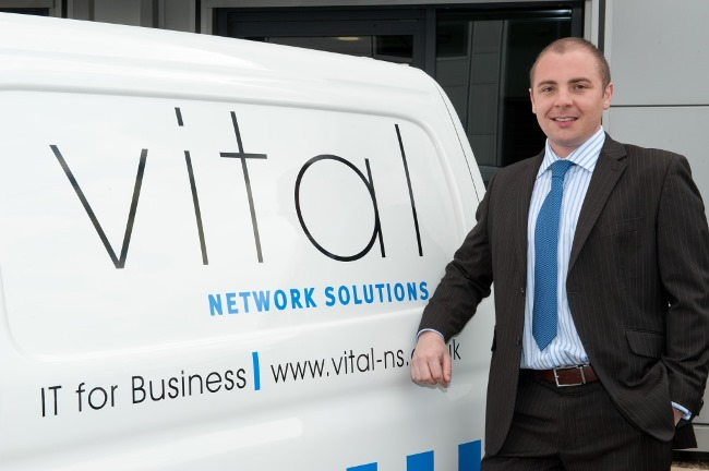 Lee Evans of Vital Network Solutions  Pic copyright Tim Hardy Photography