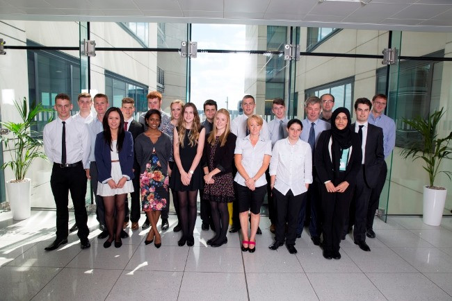 Yorkshire and Humberside Smart Futures students, with EY team members