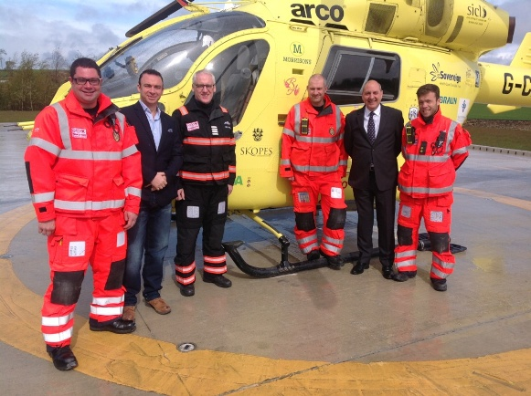 Simon Cope, Paaul Gowland and Bob Siswick with the medics