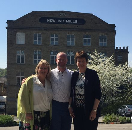 (L-R) Andrea Conboy Team Leader at Fusion Homes Fusion Housing Andrew Mear Owner of Batley Mill and Helen Minnet Managing Director Fusion Housing