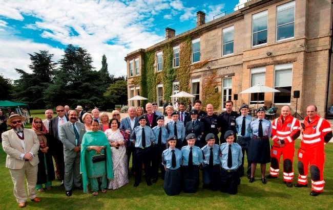The Lord Lieutenant of West Yorkshire Dr Ingrid Roscoe hosted a garden party in the grounds of Bowcliffe Hall on Saturday to celebrate the Queen's 90th birthday. The Lord Lieutenant and Bishop of West Yorkshire and the Dales Nick Baines with some of the guests.