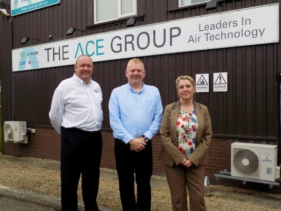 ACE Group was joined by repesentatives from Gardner Denver and BCAS for its open day