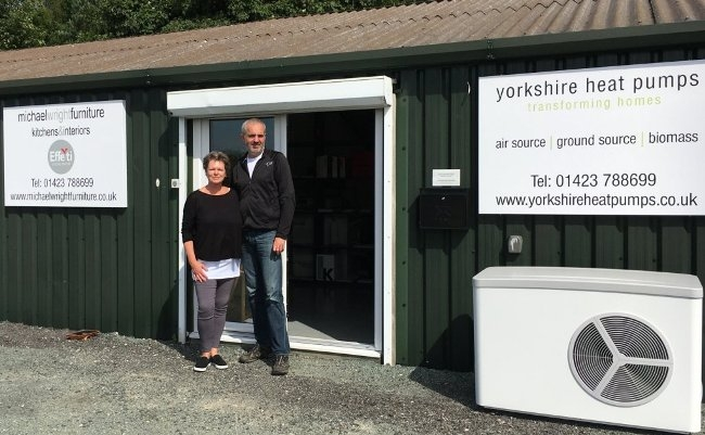Michael and Kate Wright outside new premises