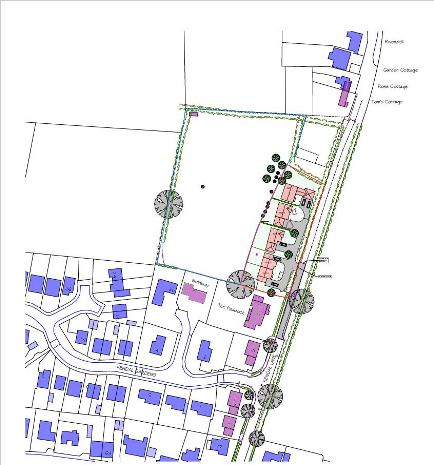 The proposed site layout at Tockwith