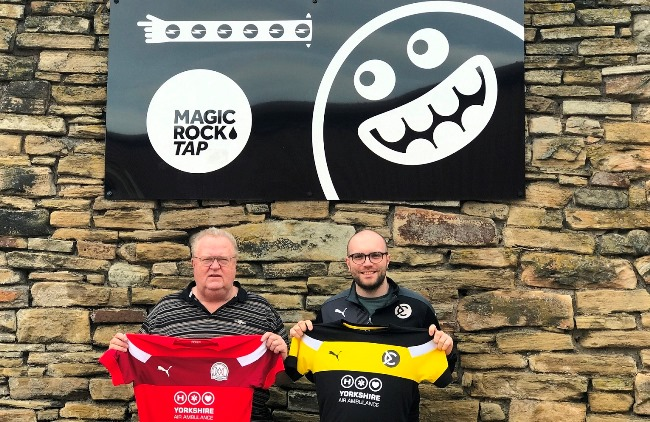 Mark Learmont, director at Lindley Financial Management, and The Match organiser, Dave Learmont